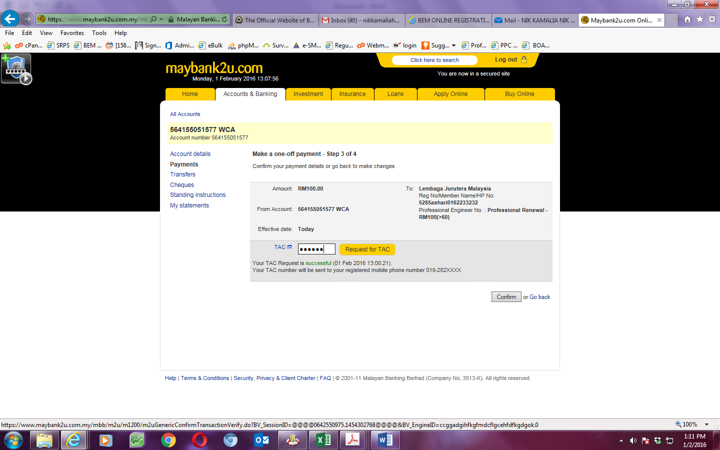 Step By Step For Maybank 2u Internet Banking